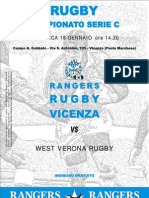 Pieghevole Rangers Rugby Vicenza 08-09 Nr.07