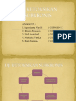 Uji Toksikologi Subkronis