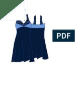 Vestido Azul Con Cortes