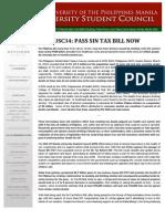 USC34 Sin Tax Bill Statement