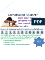 The unmotivated student