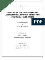 Ramesh Deokar Framework of Agril Inputs in Developing Countries