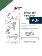 Manual Singer 288