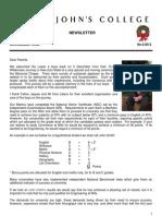 Newsletter 6 Michaelmas Term 2012