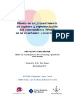 Diseño de un procedimiento de captura y representación de conocimiento TPACK en la enseñanza universitaria