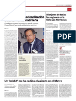 Adiós a la internacionalización de la economia madrileña