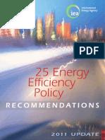 25 Energy Efficiency Policy- 2011 Update
