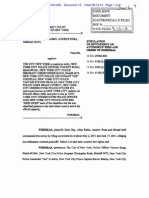 Stipulation of Settlment of Legal Fees in Civil Rights Suit Against NYPD