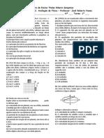 Avaliação de Física - 1º ano F e G - Professor Roberto Nunes
