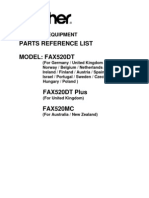 Brother Fax 520 Parts Manual