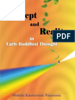 Concept and Reality in Early Buddhist Thought