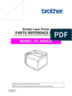 Brother HL-2600cn Parts Manual