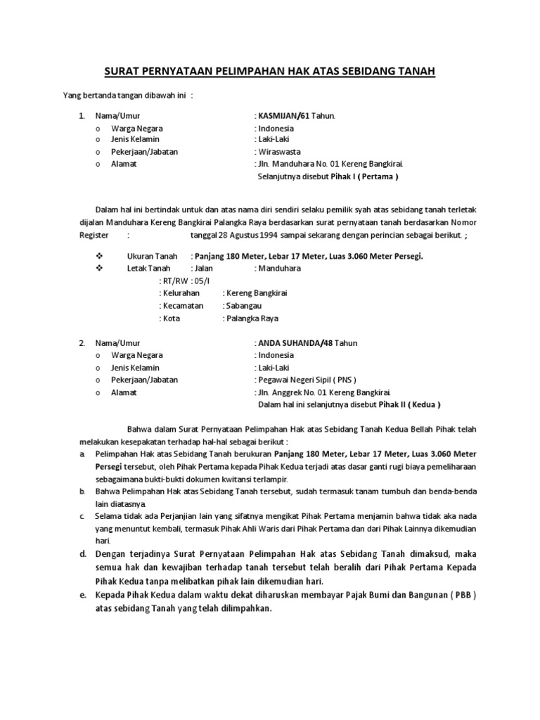Contoh Surat Kuasa Pengalihan Ahli Waris Kumpulan Contoh Surat Dan Soal Terlengkap