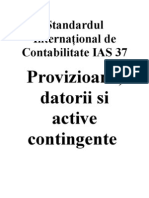 IAS Standardul International de Contabilitate IAS 37