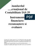 IAS Standardul International de Contabilitate IAS 39
