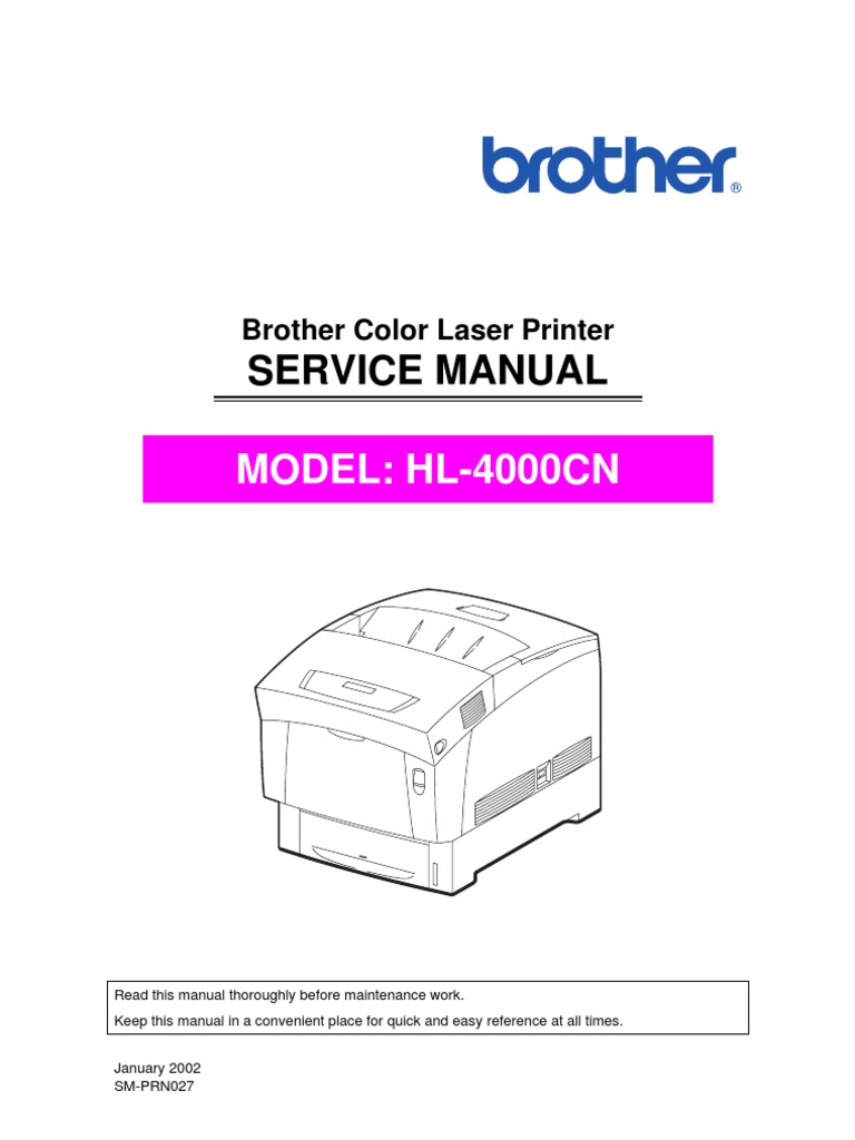 Brother HL-4000cn Service Manual | Battery (Electricity) | Printer  (Computing)