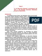 Tema 5y EL CENTRO ESPECÍFICO DE EE.