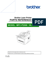 Brother MFC, HL P2500 Parts Manual