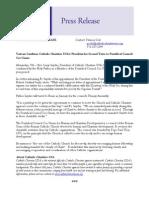 Press Release  Fr. Larry Snyder Confirmed as Member of Cor Unum Final 12.11.12
