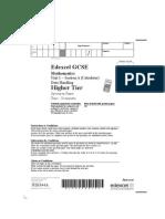 GCSE Maths 306543 Higher Data Handling Unit 1 Section A(specimen)