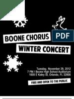 Boone Chorus Winter Concert Program 2012