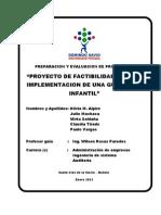 Preparacion y Evaluacion de Proyectos I