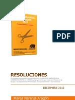 RESOLUCIONES ARAGON2012