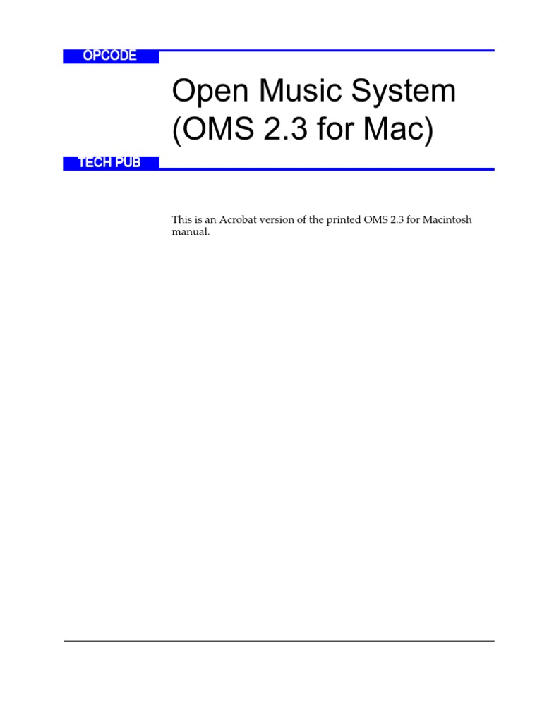 Open Music System Oms 2.3 For Mac