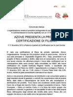 Azove presenta la certificazione di filiera.