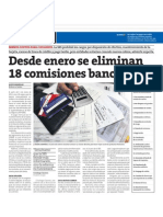 Desde enero se eliminan 18 comisiones bancarias