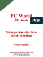 Moricz Attila Szovegszerkesztesi Feladatok WORD Ben