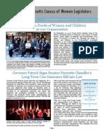 Massachusetts Caucus of Women Legislators Newsletter Fall 2012