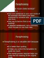 Paraphrasing PPT