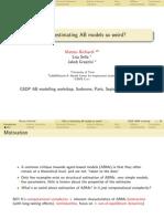 GSDP_ABM-Workshop-2011_Matteo_Richiardi - Why is Estimating AB Models So Weird