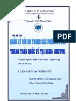 Quản lý rủi ro trong các phương thức thanh toán quốc tế tại SGDII - NHCTVN