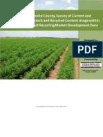 San Benito Recycled Feedstock Survey Study