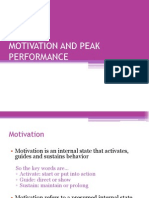 Session 13 Motivation and Peak Performance