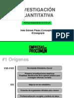 Metodologías de Investigación | Análisis Cuantitativo | Inés Gómez Plaza