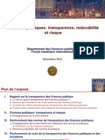 Fiscal Transparency Accountability and Risk (Francais)