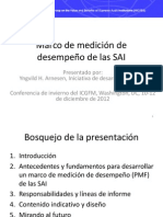 SAI Performance Measurement Framework - Rationale, Process and Indicative Content, Yngvild Arnesen (Espanol)