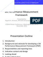 SAI Performance Measurement Framework - Rationale, Process and Indicative Content, Yngvild Arnesen