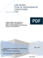 Report on Second Law Based Optimization of an Evaporator