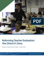 Reforming Teacher Evaluation