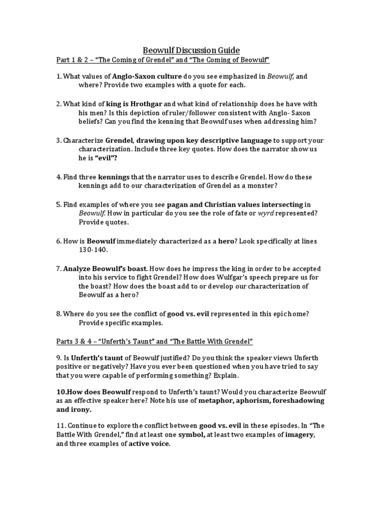 the use of the conflict between the good and evil throughout beowulf Beowulf a true hero essays: beowulf good vs evil analysis beowulf writing assignment through the use of the conflict between good and evil throughout beowulf.