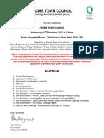 Notification Full Council 12th Dec 2012