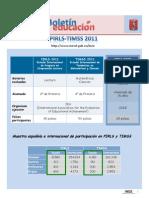 Boletín INEE, Pirls y Timms 2011