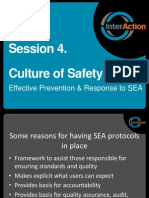 Session 4 Culture of Safety