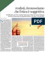 La soggettività dell'etica di PAOLO FLORES D'ARCAIS - La Stampa 11.12.2012
