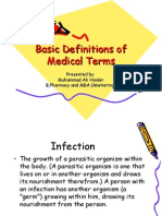 Basic Definitions of Medical Terms