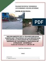 PERFIL DE PISTAS Y VEREDAS EN LA